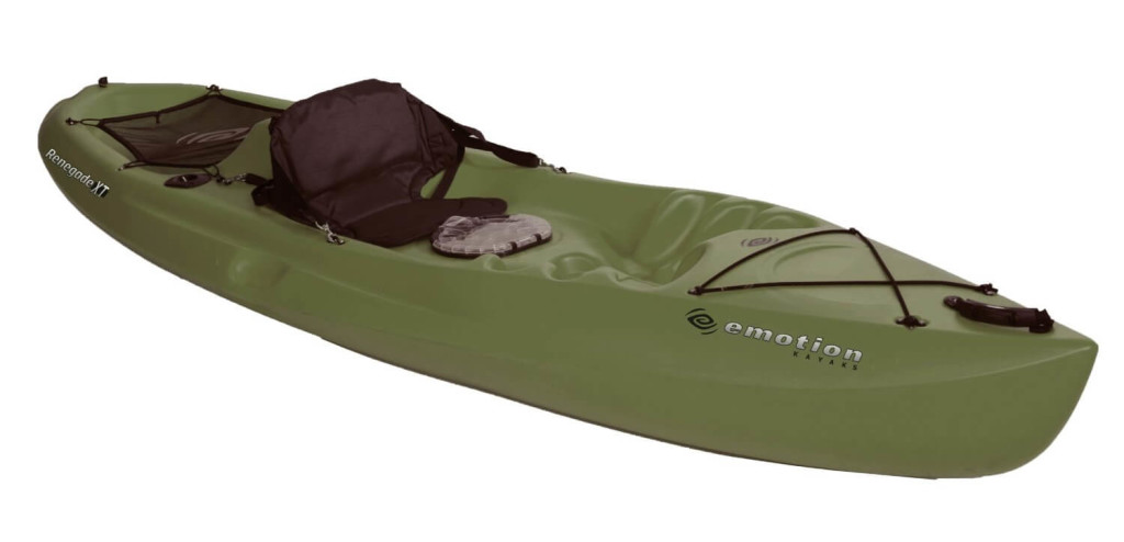 Emotion Renegade XT Fishing Kayak, Forest Green
