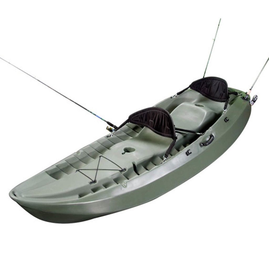 Lifetime Sport Fisher Single or Tandem Kayak, 10 Feet, Olive Green