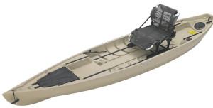 NuCanoe Pursuit 13.5' Shell Tan Fishing Kayak