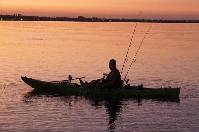 Fishing kayak on the lake