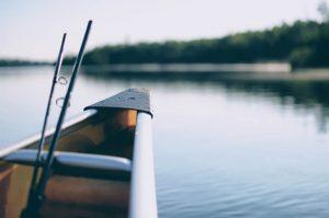 spinning rod in kayak